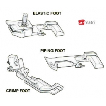 ensemble pied-presseur ( 3 )pour surjeteuses