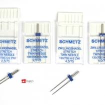 Schmetz Set aiguilles doubles stretch